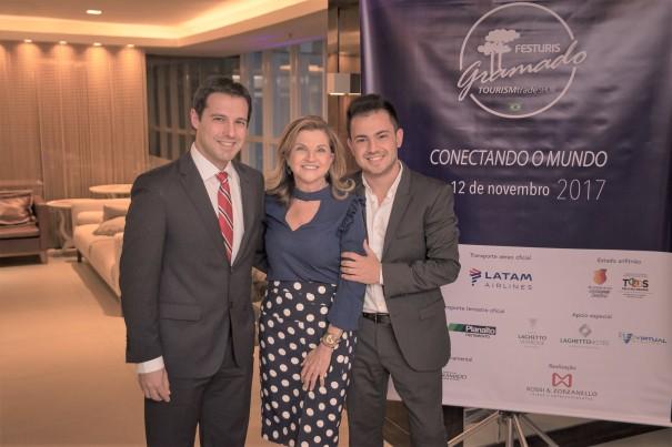 Eduardo Zorzanello, Marta Rossi e Marcus Vinícius Rossi