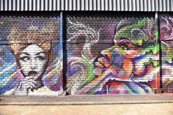 E a street art também está na mostra EliteDesign pelo artista urbano Lucas Anão Vernieri que trabalha há mais de 20 anos com grafite - Crédito Edu Liotti
